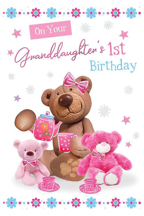 CLA-5027 C50 - Granddaughter's 1st Birthday FEMALE (PACK 6)