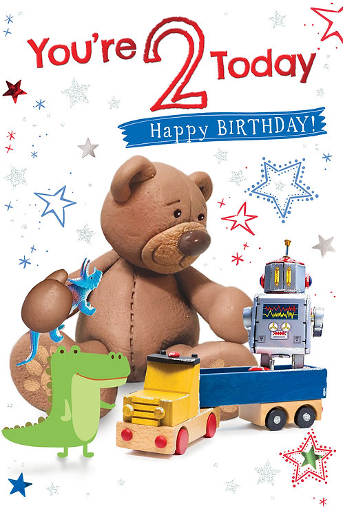 CLA-5011 C50 - AGE 2 Birthday MALE (PACK 6)