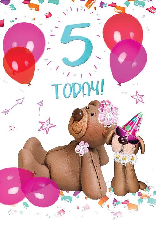 CLA-5032 C50 - Age 5 Birthday FEMALE (PACK 6)