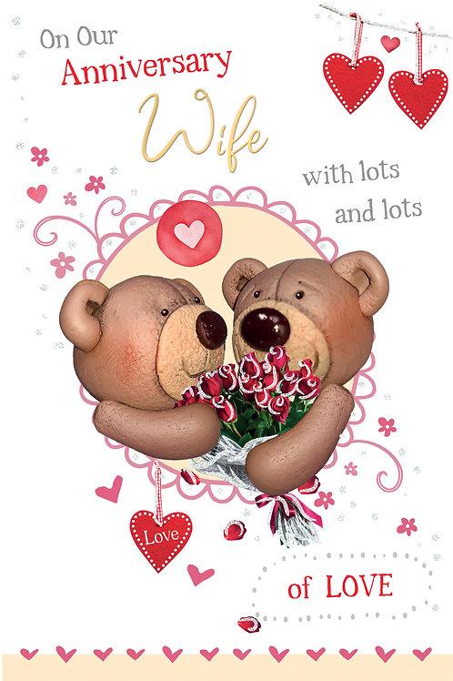 CLA-7522 C75 - Wife Anniversary WEDDING (PACK 6)