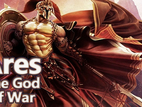 God Ares, the symbol of strong will, ego and the first chakra