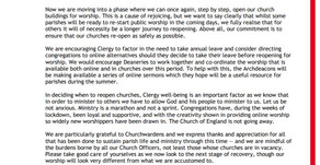 Pastoral letter from the Bishops of the Diocese