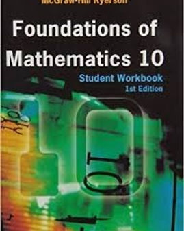 Grade 10 Foundations of Math 10 Textbook