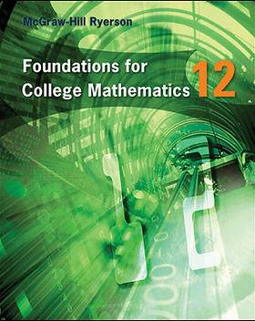 Foundations for College Mathematics 12 -