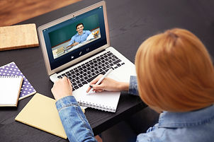 Online high school student getting homework help on ACT math from an online tutor.