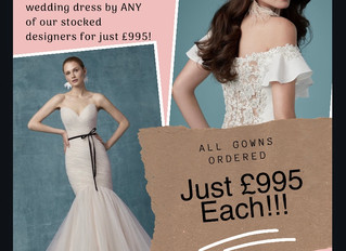 ALL Wedding Dresses Ordered In December Just £995!