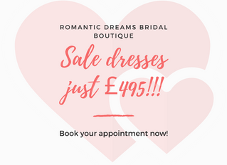 ALL Sale Gowns Just £495!