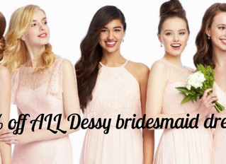 Back by Popular Demand 20% Off Bridesmaid Dresses!
