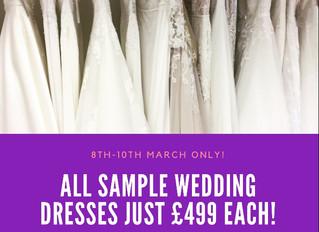 ALL Sample Wedding Dresses just £499!!!