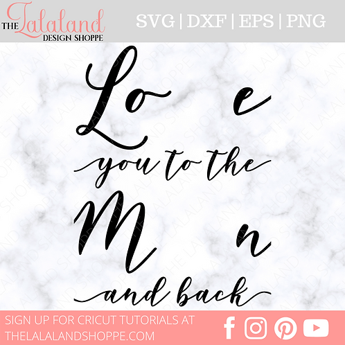 Love you to the Moon and Back SVG, Baby Foot Hand Print Nursery Sign Design