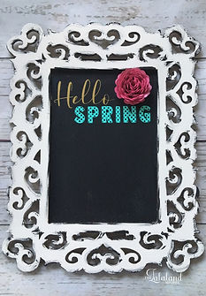 Hello Spring DIY chalkboard project with Cricut