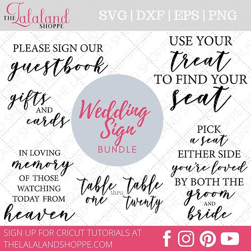 Wedding Sign Design Bundle