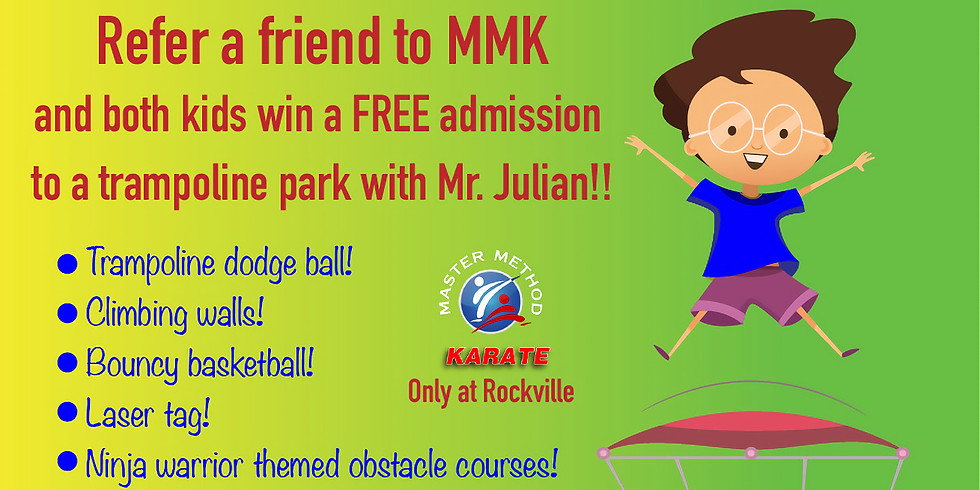 Refer a Friend and go together to a Trampoline Park! Rockville location