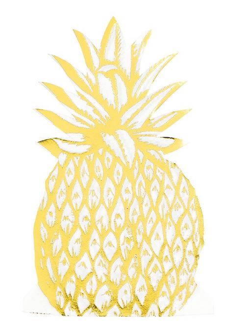 Modern Metallics Pineapple Shaped Napkins
