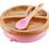 Thumbnail: Pink - Avanchy Bamboo Suction Baby Plate + Spoon