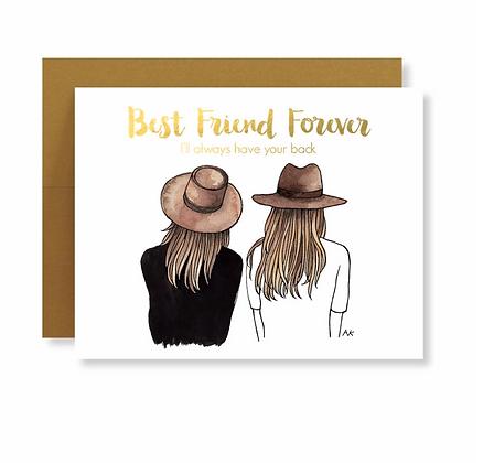 Best Friend Forever Card w. Gold Foil