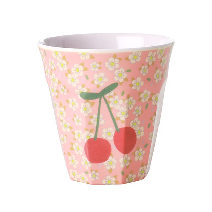 Melamine Cup with Cherry Print - Medium