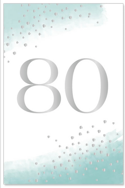 greeting card/foil - 80 silver