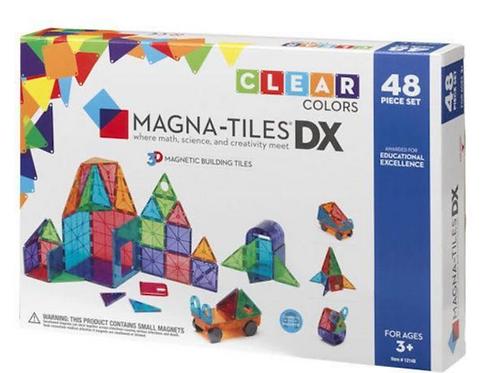 Magna-Tiles® Clear Colors 48-Piece Set