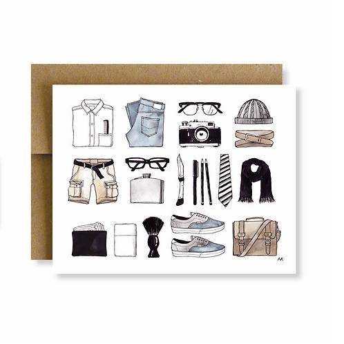Mens Minimal Items Card