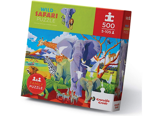 500-pc Boxed-Wild Safari