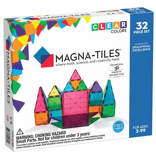 Magna-Tiles® Clear Colors 32-Piece Set