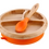 Thumbnail: Orange - Avanchy Bamboo Suction Baby Plate + Spoon