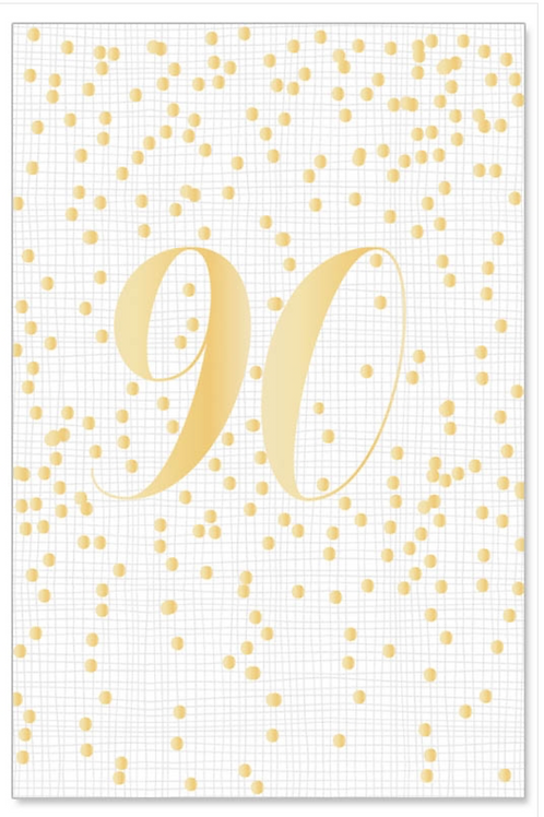 Greeting card/foil - gold 90