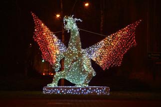Dragon Light Sculpture