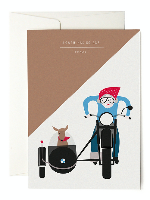 YOUTH HAS NO AGE GREETING CARD