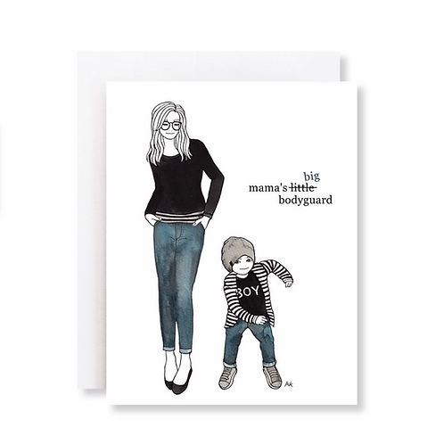 Mama's Big Bodyguard Card