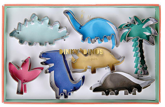 DINOSAUR COOKIE CUTTERS S/7
