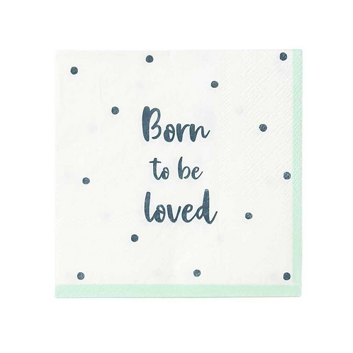 Born To Be Loved Cocktail Napkin