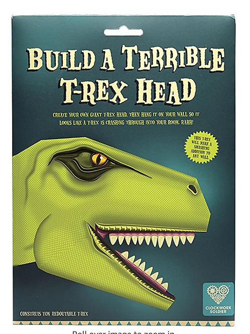Build A Terrible T-Rex Head - DIY Cardboard Dinosaur Trophy Wall Mounted Head