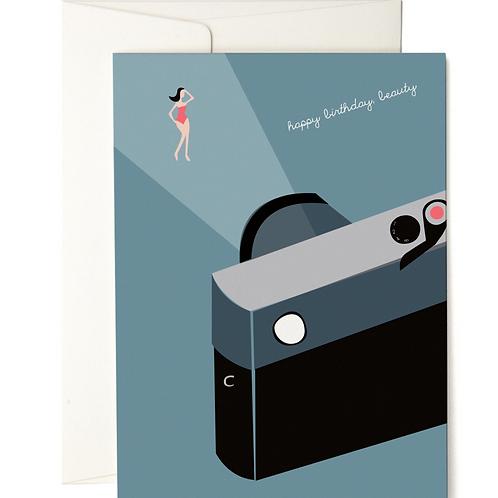 HAPPY BIRTHDAY BEAUTY GREETING CARD