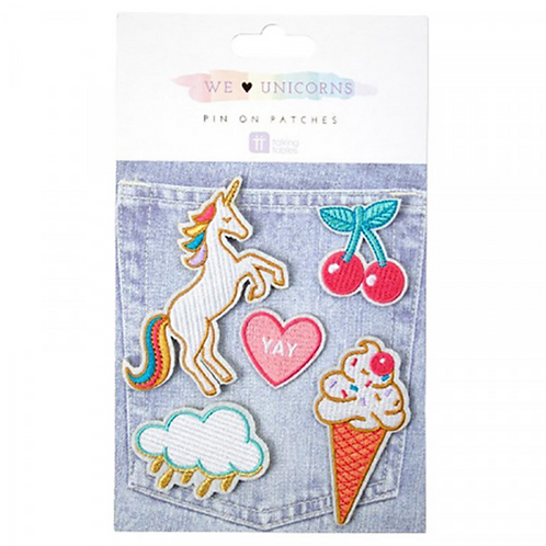 We Love Unicorns pin on patches badges