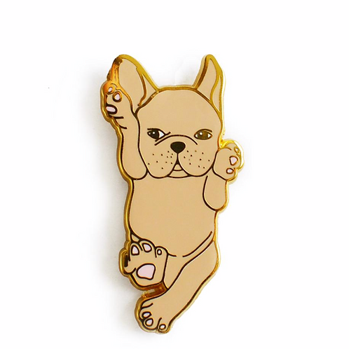 Fawn French Bulldog Enamel Pin