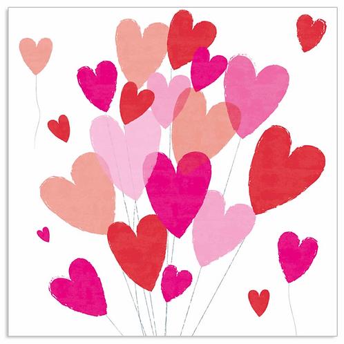 Bundle of Hearts - Napkins - Pink