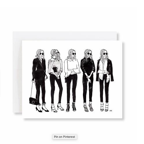 5 Minimalist Girls Card