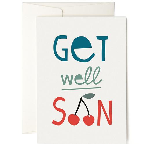 GET WELL SOON GRUSSKARTE GREETING CARD