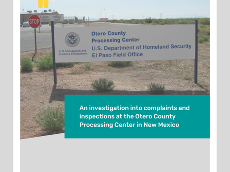 Report on conditions at Otero detention facility