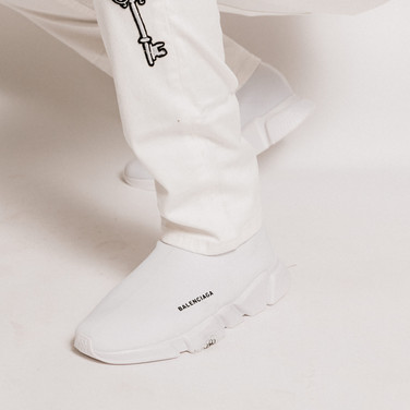 Balenciaga all white runners