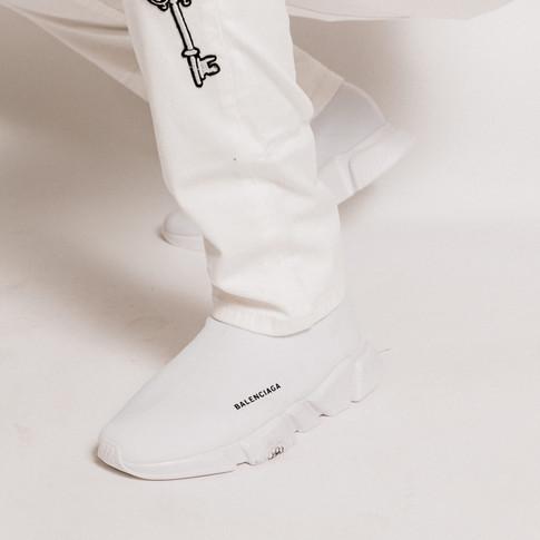 Balenciaga all white runners