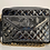 Thumbnail: AUTHENTIC CHANEL VINTAGE PATENT CAMERA BAG IN BLACK WITH GOLD HARDWARE