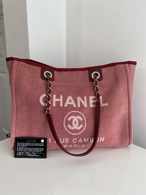AUTHENTIC CHANEL DEAUVILLE SHOPPING TOTE