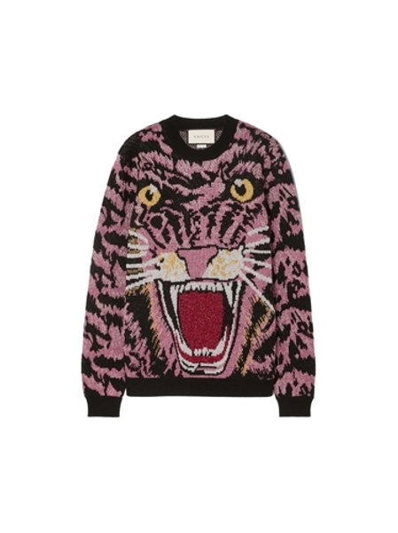 AUTHENTIC GUCCI LUREX WOOL TIGER SWEATER