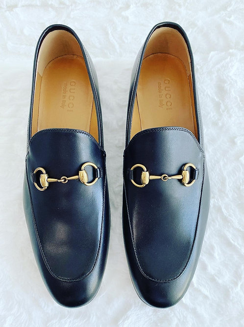 AUTHENTIC GUCCI JORDAN LEATHER LOAFER