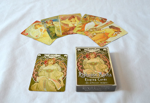 Mucha Champagne Playing Cards in Box