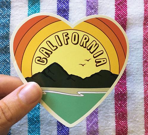 California Love Sticker- Vintage Beach Decal- Beach Sticker- California Art - ca