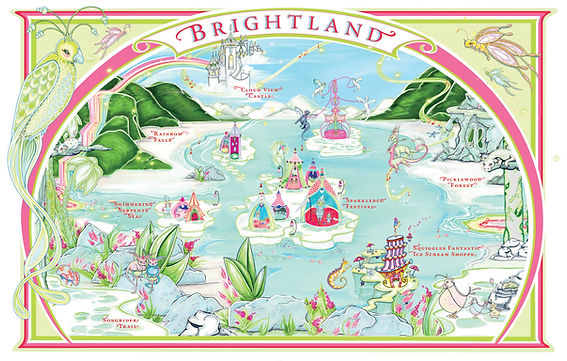 Map of Brightland Quest For Brightland The Blessing Ball